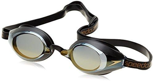 Speedo Erwachsene Schwimmbrille Speedsocket Mirror, Schwarz (Black/Clear), One Size