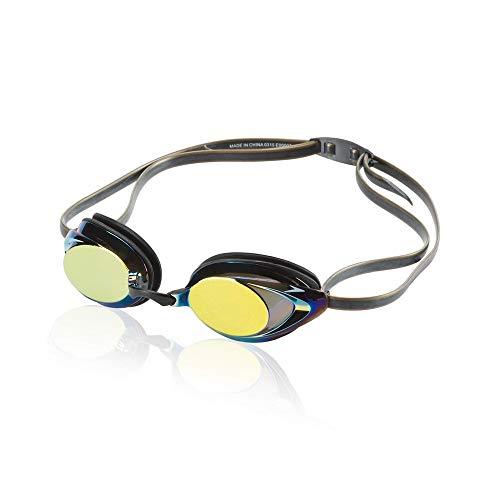 Speedo Vanquisher 2.0 Mirrored Swim-Swimming Racing Goggles-Gold Anti-Fog New