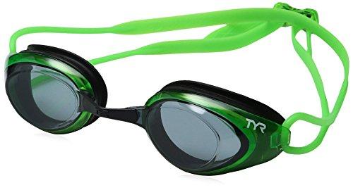 TYR Blackhawk Racing Google, Unisex, Smoke/Fluro Green/Black